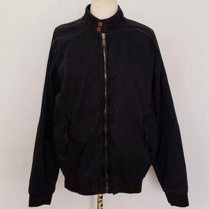 Ben Sherman Black Harrington Bomber Jacket Large